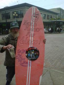 Homeless Surfboard