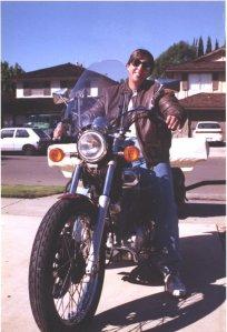 """""""Biker Mama"""" Laura on Elvis..."""