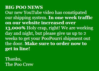 PooPourri - Note from Poo Crew
