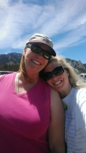 Hanging with my pal, Piper Bayard, in Colorado.