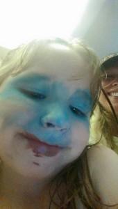Blue Faced Girl